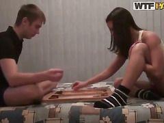 Русская девка на улице порно